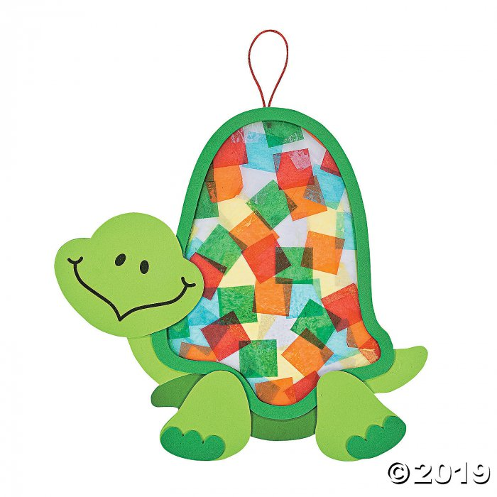 Colorful Turtle Tissue Paper Craft Kit (Makes 12)