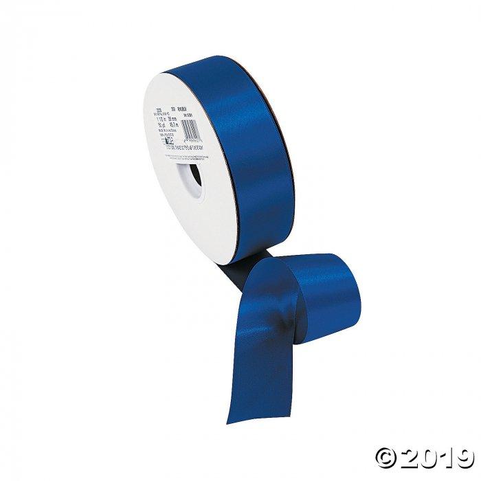 Royal Blue Double Faced Satin Ribbon - 1 1/2 (1 Roll(s))