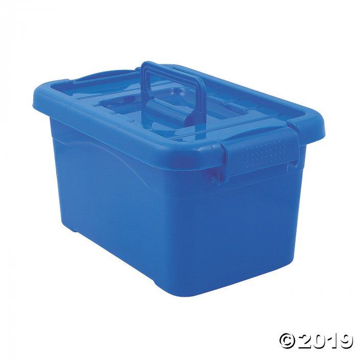 Blue Large Locking Storage Bins with Lids (3 Piece(s))