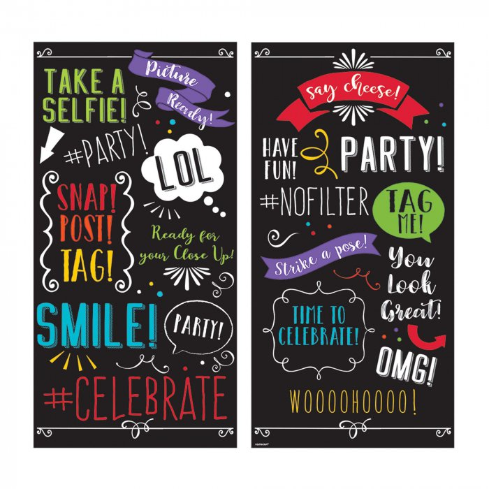 Selfie Words Backdrop (Per 2 pack)