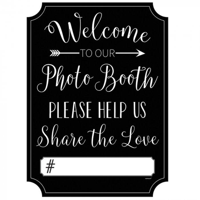 To The Photo Booth Sign