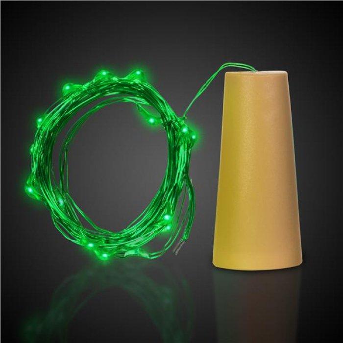 Green LED Cork String Light Set