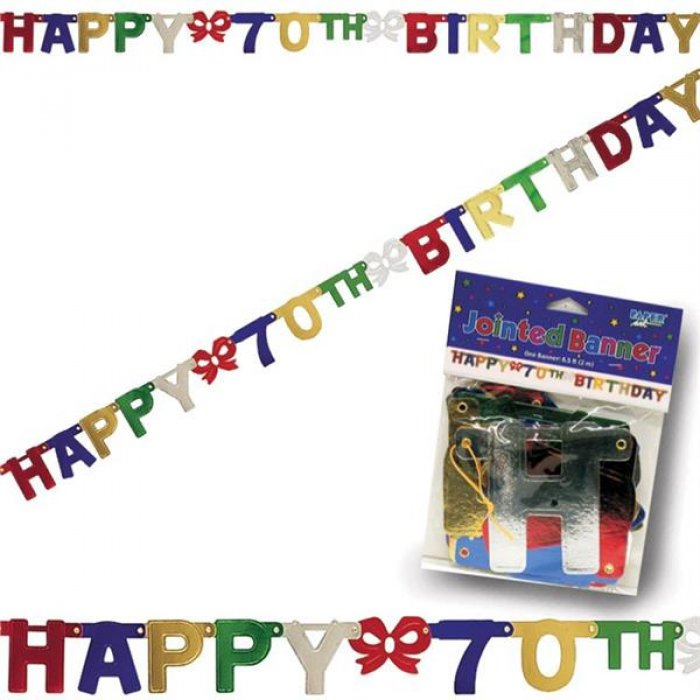 70th Birthday Banner Decoration