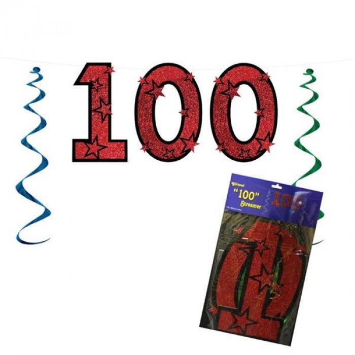100 Red String Banner Decoration