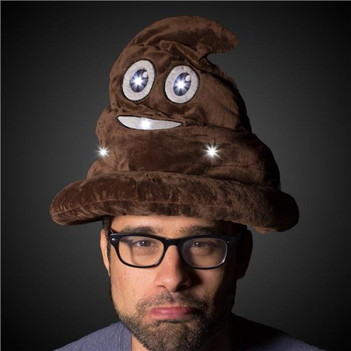 LED Poop Emojicon Hat