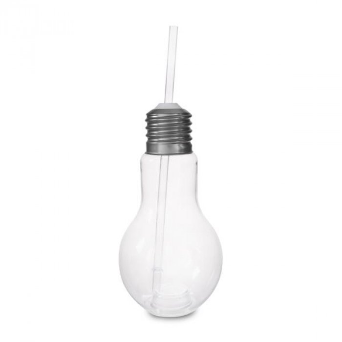 Light Bulb Cup with Lid and Straw