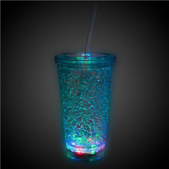 LED Crystal 16 oz Tumbler
