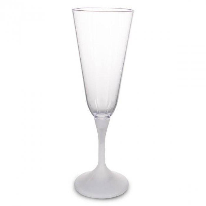 LED 7 oz  Champagne Glass White Stem