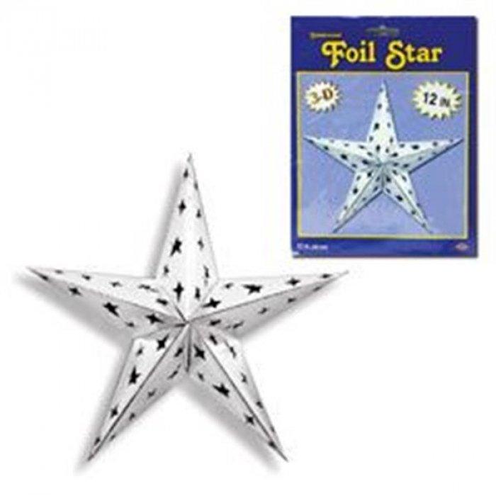 Silver Foil Star Decoration