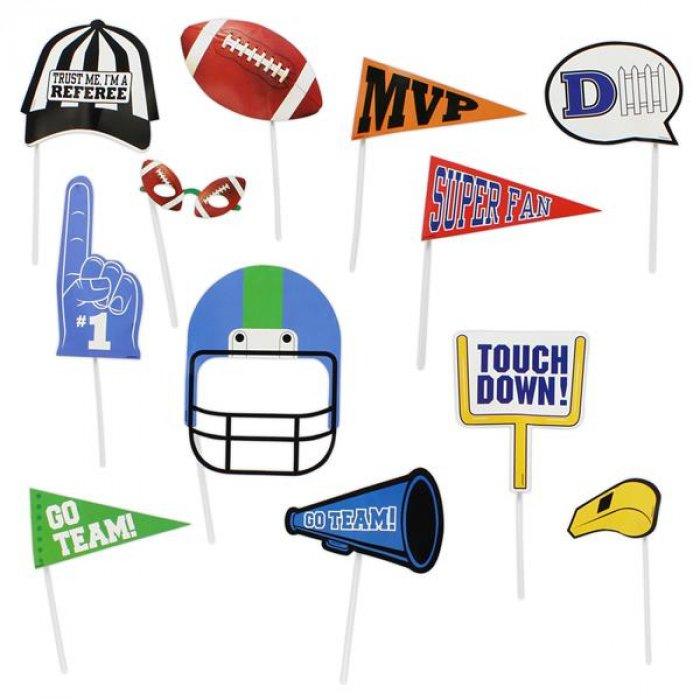 Football Game Photo Prop Kit (Per 14 pack)