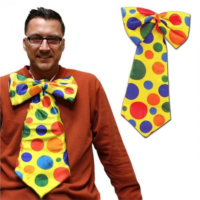 Circus Clown Spinning Bow Tie Costume Accessory