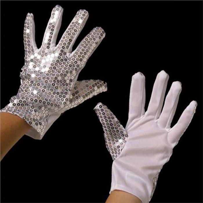 Sequin Glove Left Hand