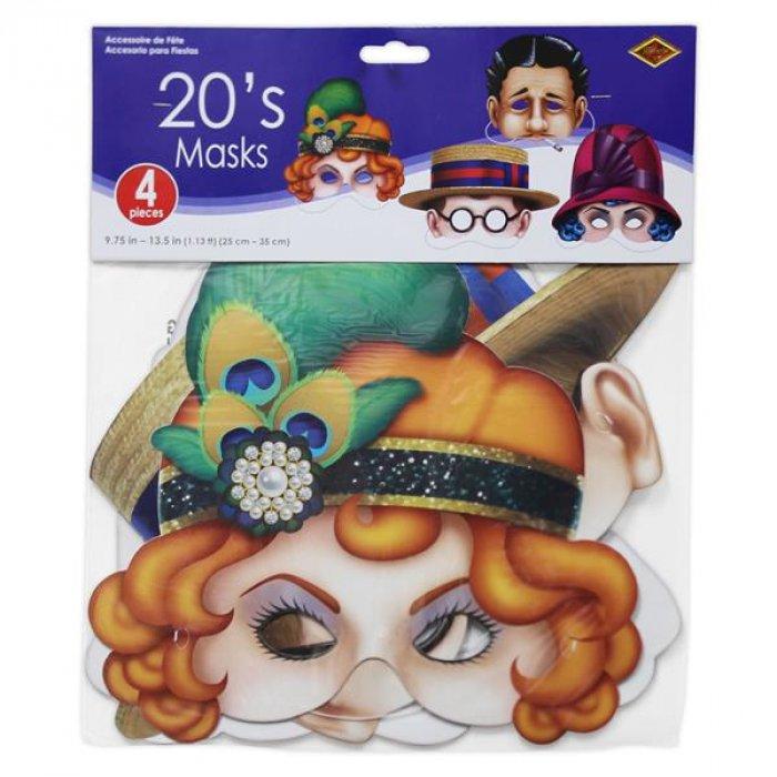 Roaring 20s Masks (Per 4 pack)