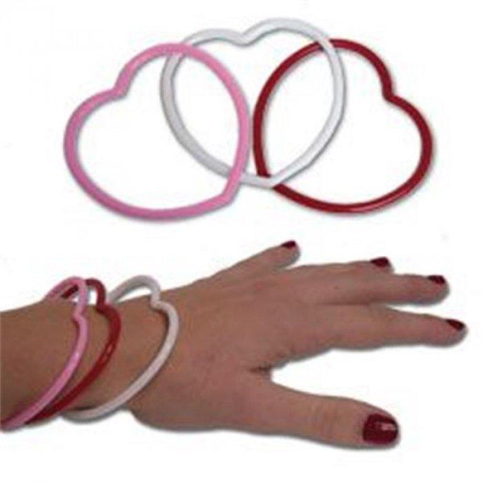Heart Shape Bracelets (Per 12 pack)