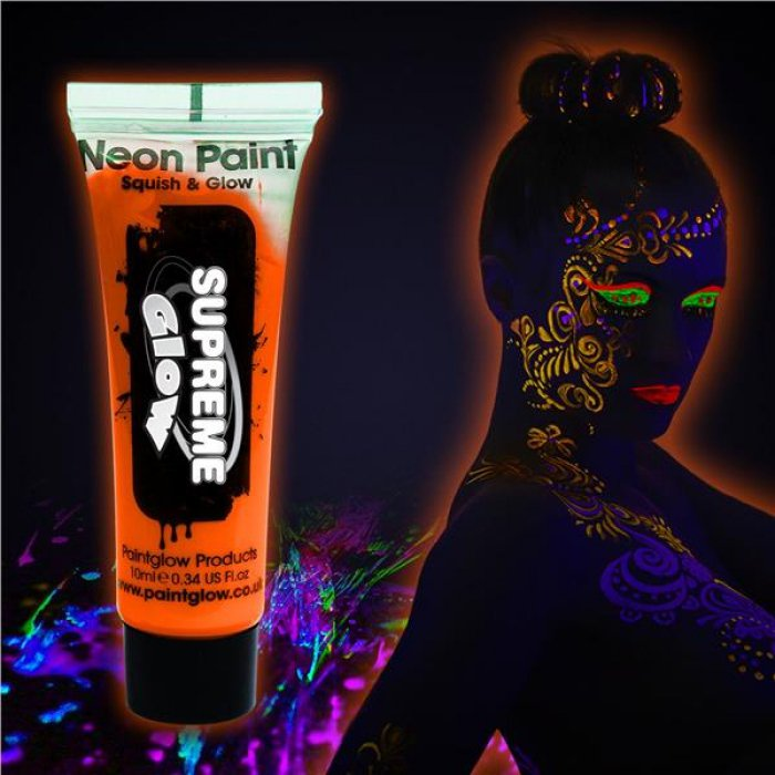 Orange UV Face and Body Paint (Per Piece)