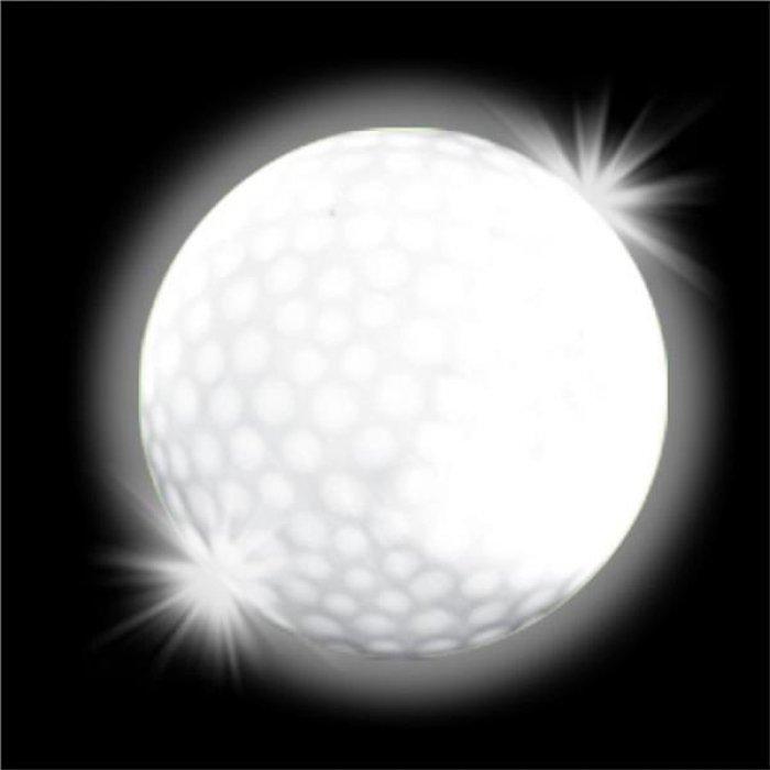 White Novelty LED  Light-Up Golf Ball