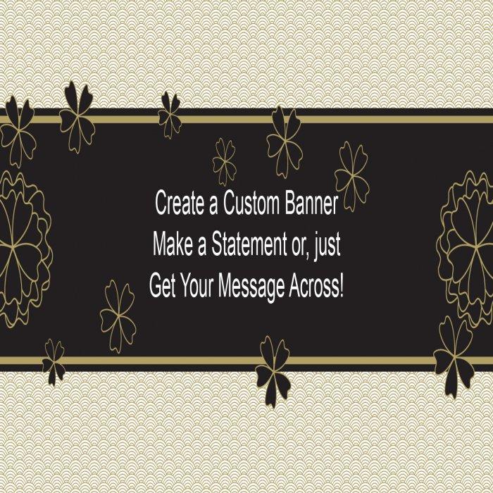 Asian Elegance Custom Banner - 12 x 24