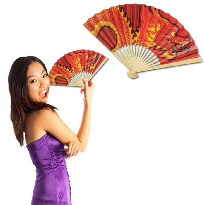Chinese Dragon Fan (Per 12 Pack)