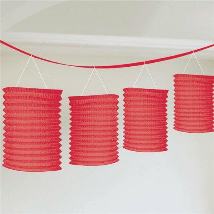 Red Paper Lantern Garland Decoration
