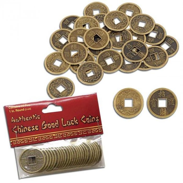 Chinese Good Luck Coins (Per 25 pack)