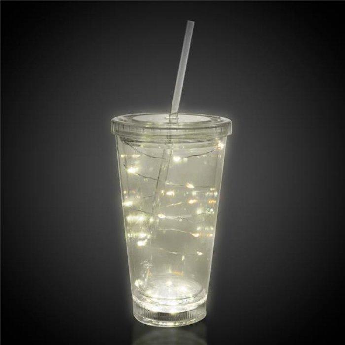 LED White String Light Cup