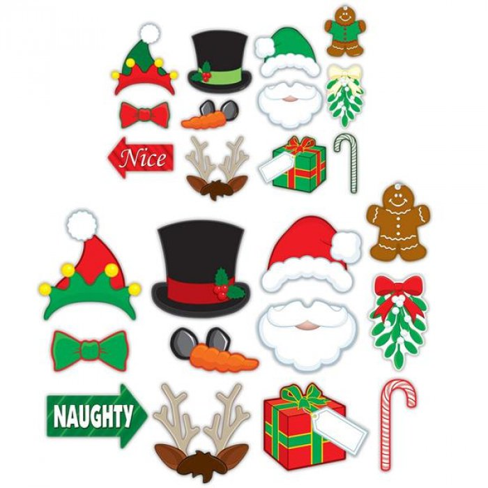 Merry Christmas Photo Booth Prop Kit (Per 12 pack)