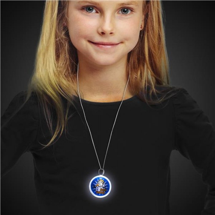 Happy Holidays LED and Light - Up Necklace