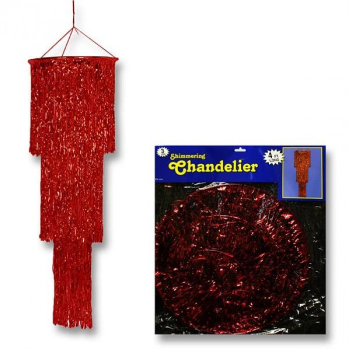 Red Fringe Chandelier