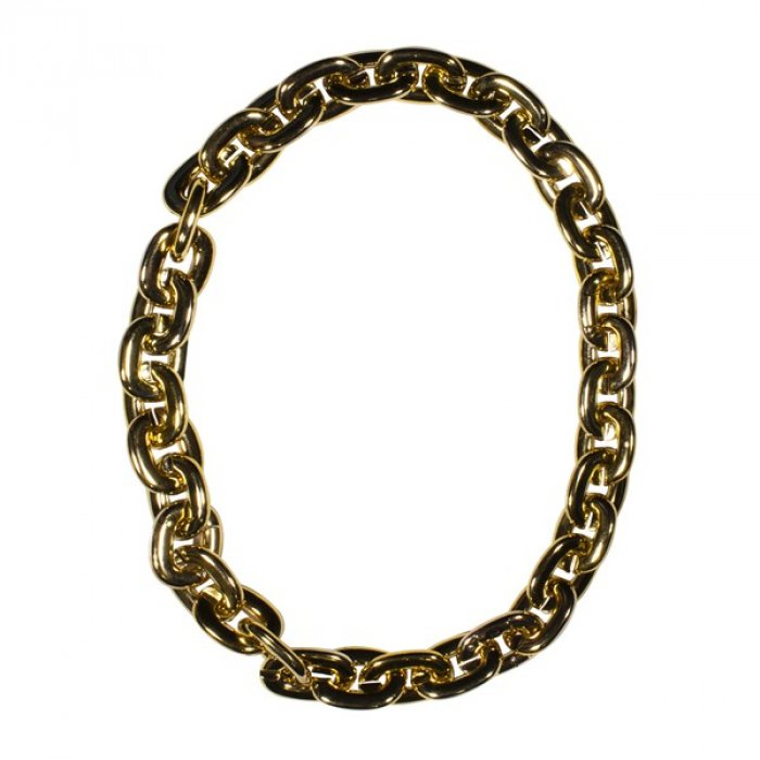 LED Gold Chain Link Necklace