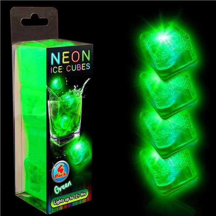 Neon Green LED Ice Cubes