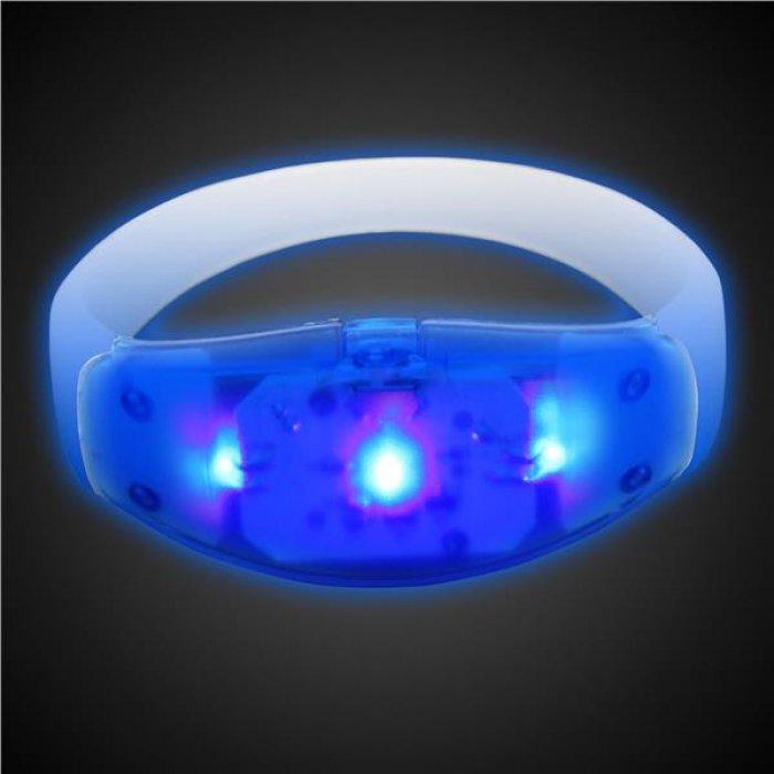 Sound Activated Blue LED Stretchy Bracelet