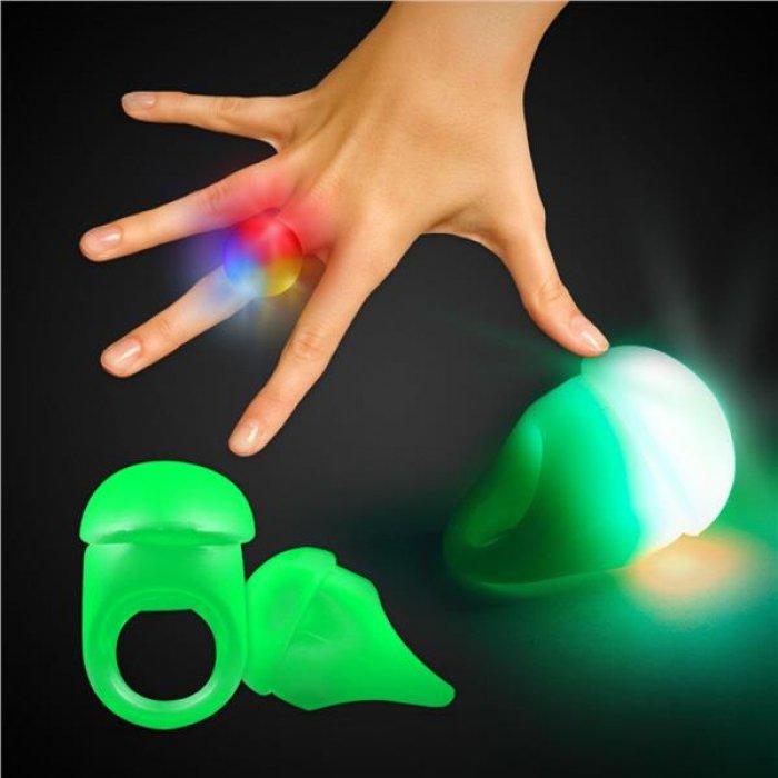 Green LED Light-Up Jelly Rings
