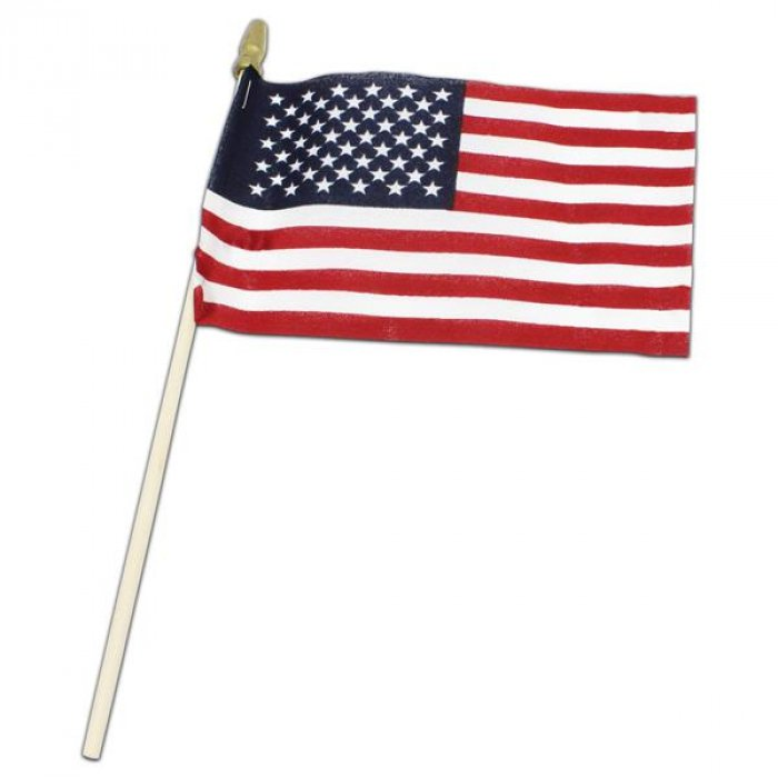 "USA American  4"" X 6"" Cloth Flags"