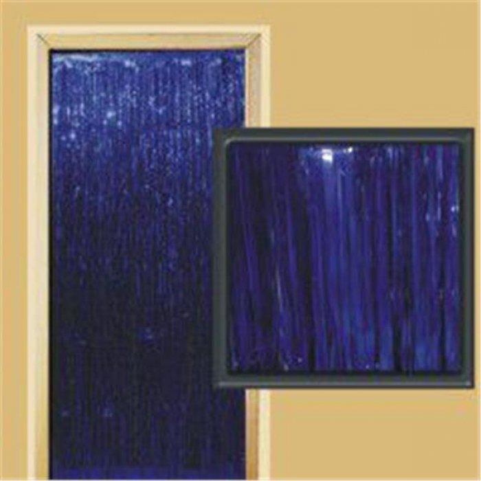 Blue Metallic Fringed Door Curtain