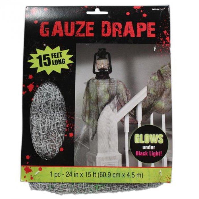 Gauze Black Light Reactive Decoration