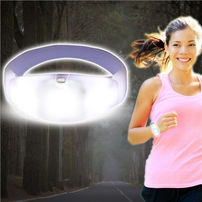 Sound Activated White LED Stretchy Bracelet
