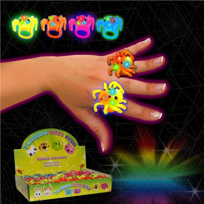 LED Spider Jelly Rings