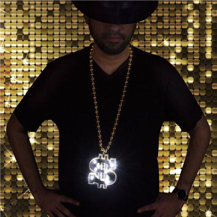 LED Gold Dollar Sign Necklace
