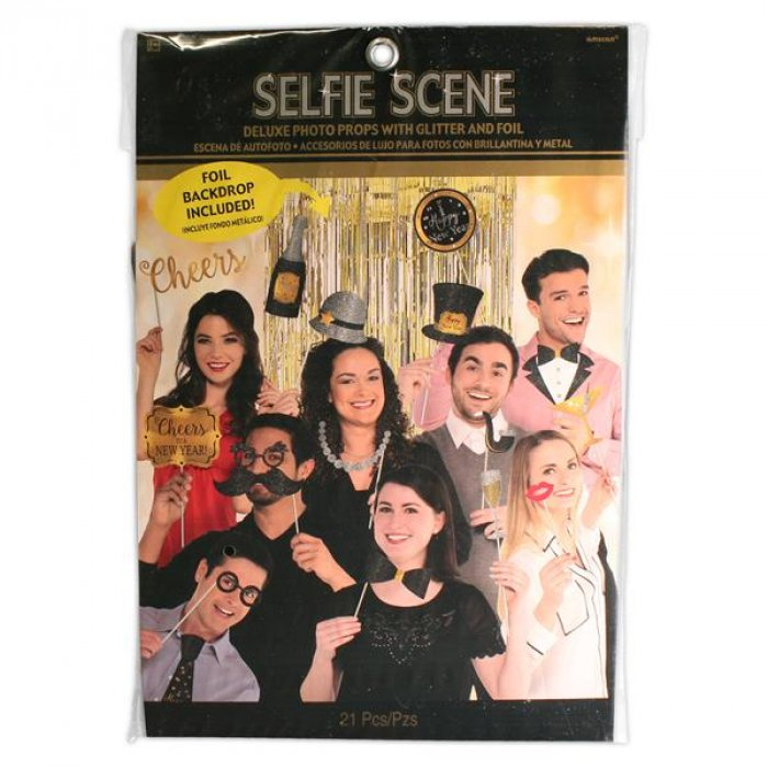 New Years Selfie Photo Booth Prop Kit