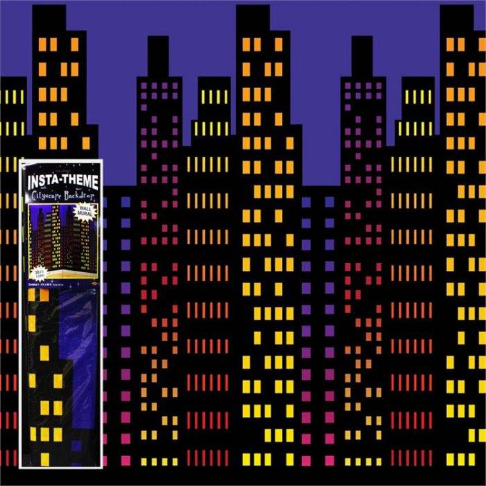 City Skyline Room Roll