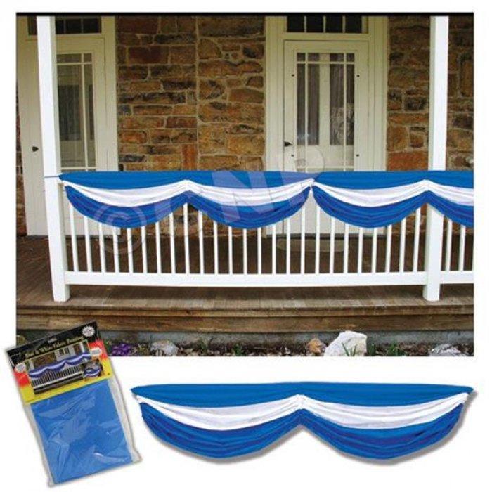 Blue & White Fabric Bunting Decoration