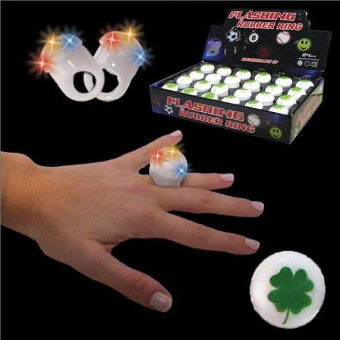 LED Shamrock Jelly Rings