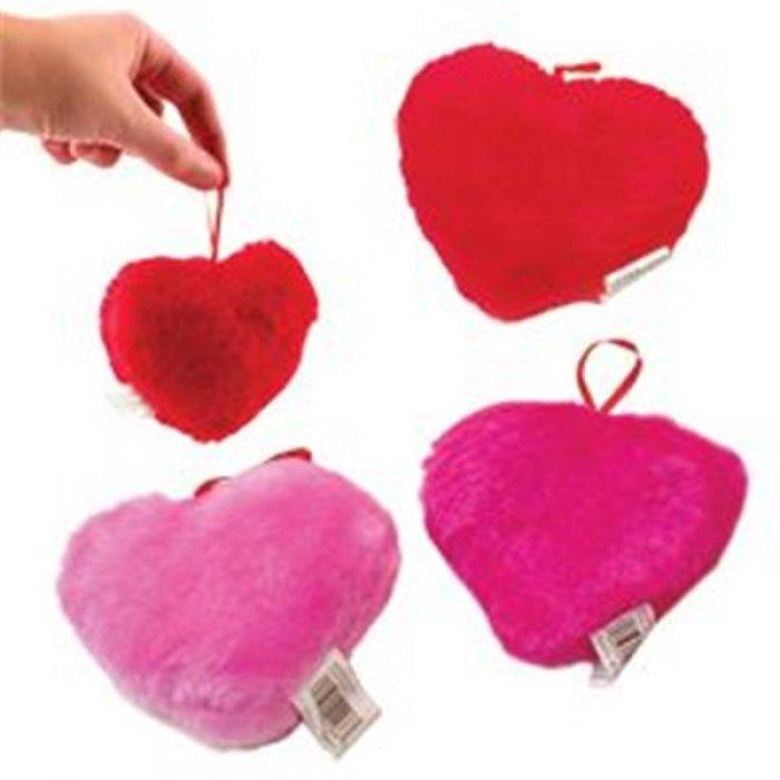 "Plush 4"" Hearts"