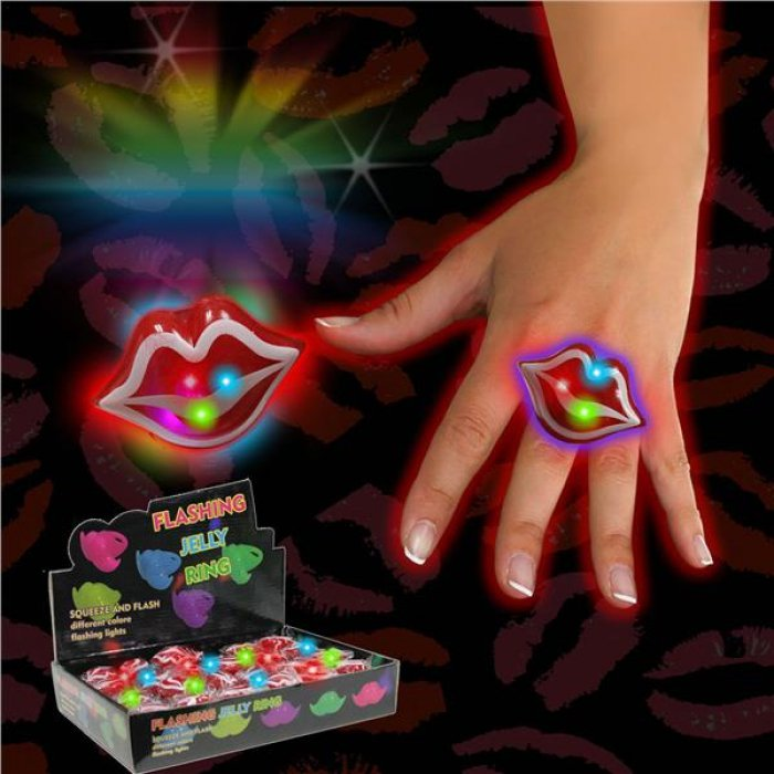 LED Red Lip Jelly Rings