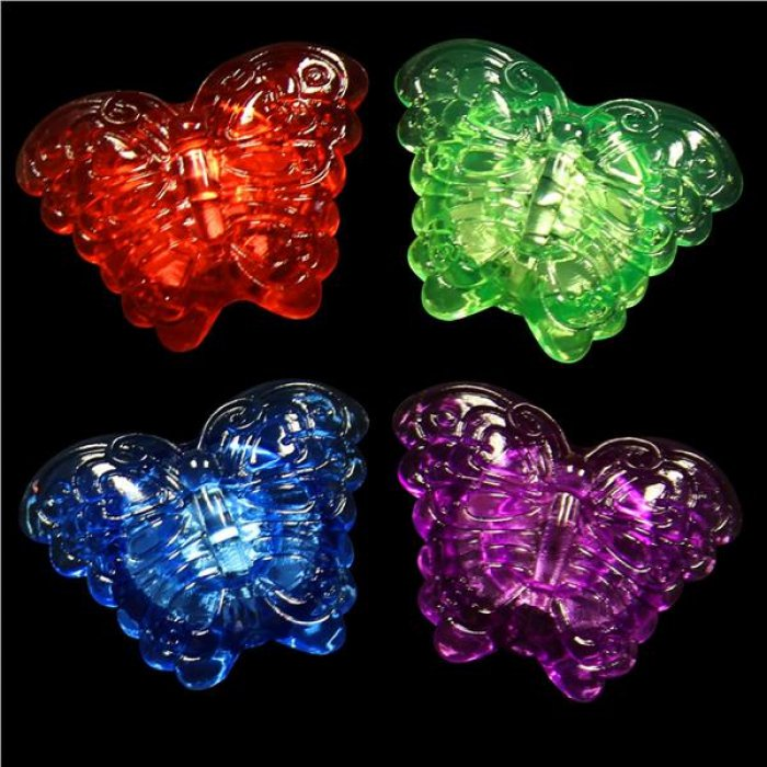 LED Butterfly Jelly Rings