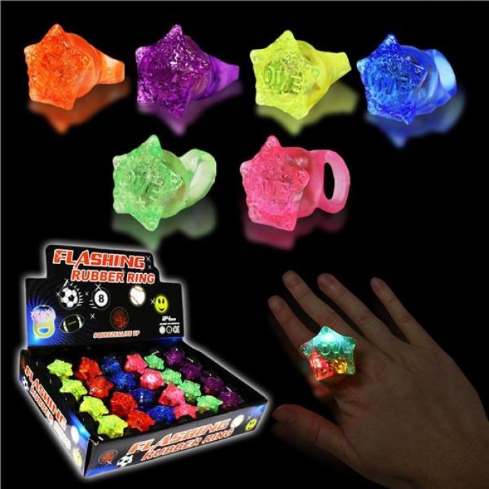 LED Star Jelly Rings
