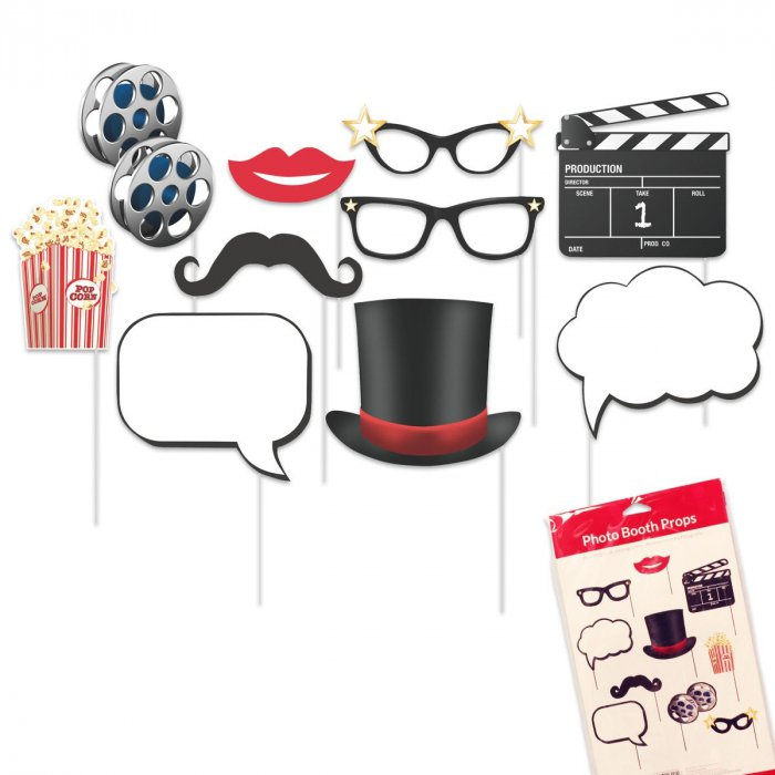 Hollywood Photo Booth Prop Kit