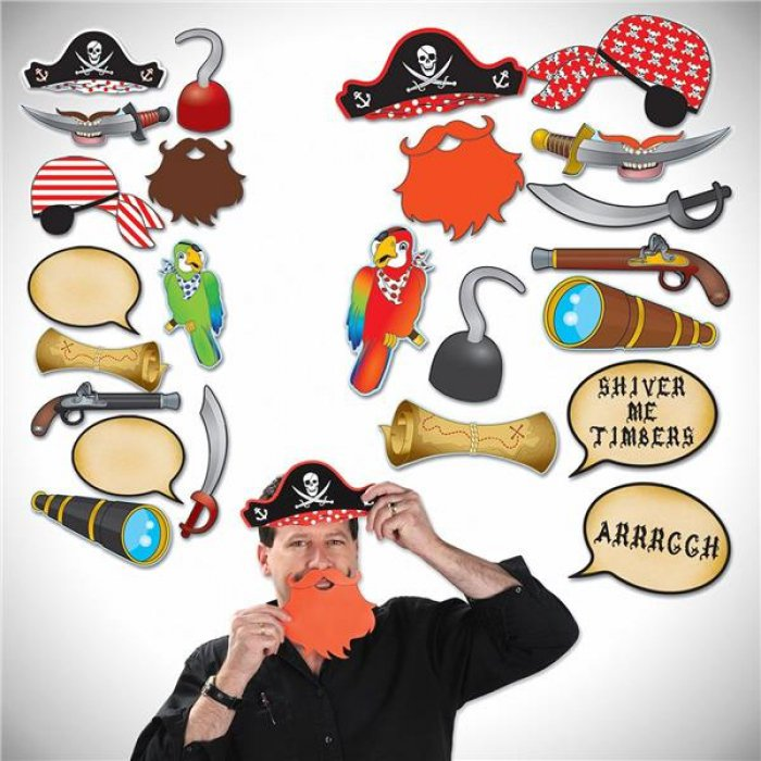 Pirate Photo Booth Prop Kit