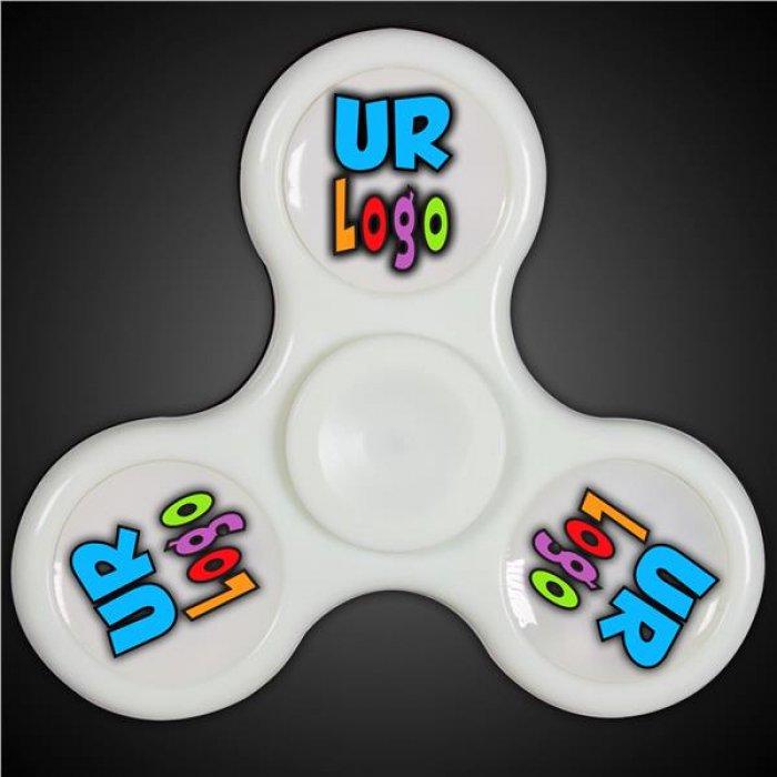 LED White Fidget Toy Spinner