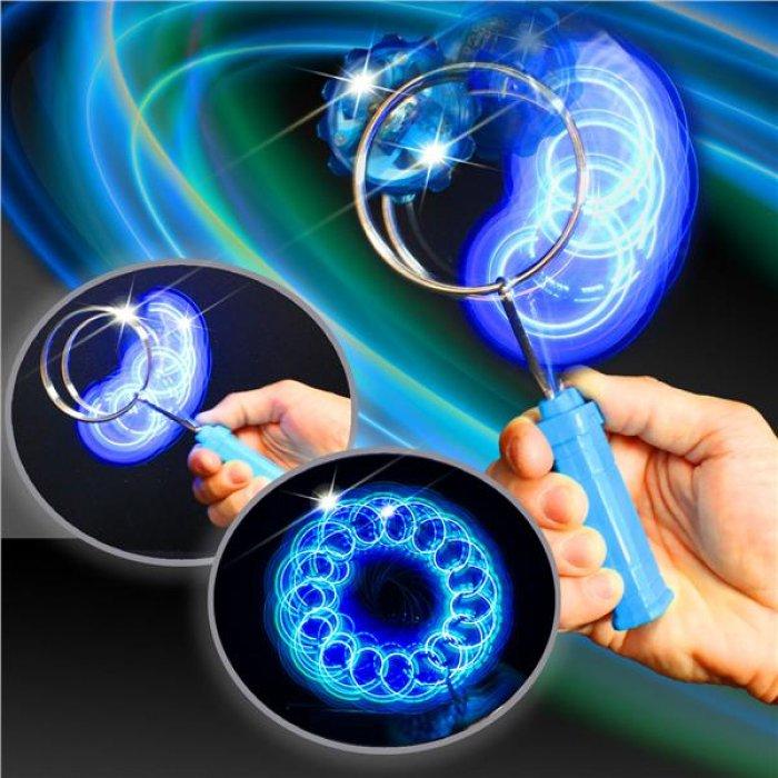 LED Gyro Wheel with Blue Handle